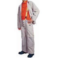 正品WELDAS威特仕牛二层皮工作裤防焊接飞溅阻燃44-9100